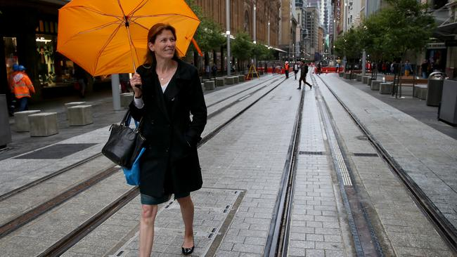 The first section of street track for Sydney's new light rail system has been opened to the public. Picture: Toby Zerna