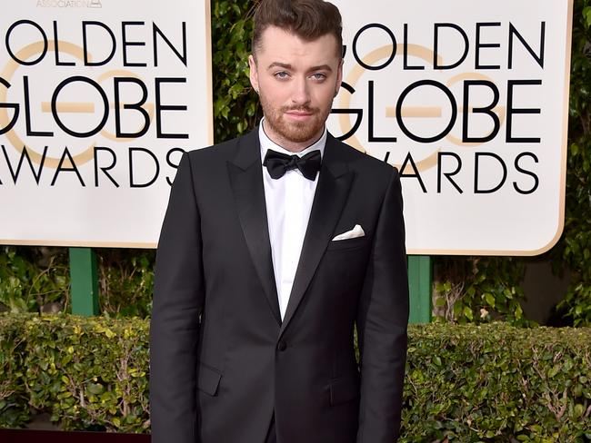 Sam Smith at the 73rd annual Golden Globe Awards in January.