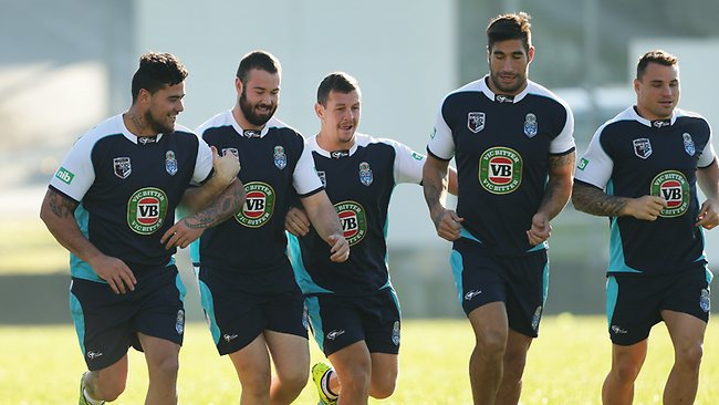 Andrew Fifita, Aaron Woods, Greg Bird, James Tamou and Anthony Watmough