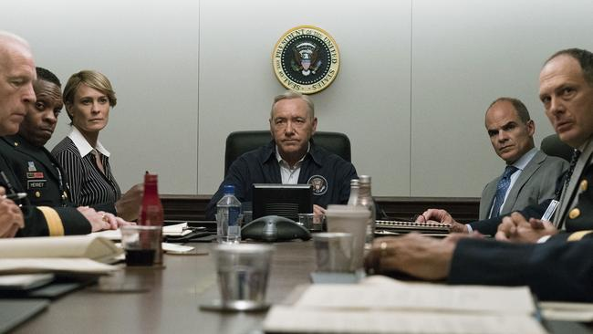 The price of watching House of Cards on Netflix will rise in Australia under a 10 per cent tax on digital downloads from overseas. Picture: David Giesbrecht/Netflix via AP