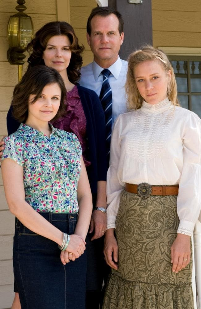 Ginnifer Goodwin, Jeanne Tripplehorn, Bill Paxton and Chloe Sevigny in  <i>Big Love</i>.