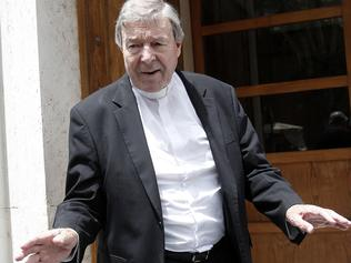 26/6/2017 .. Cardinal George Pell pictured outside his home near the Vatican on Wednesday. Picture: Supplied