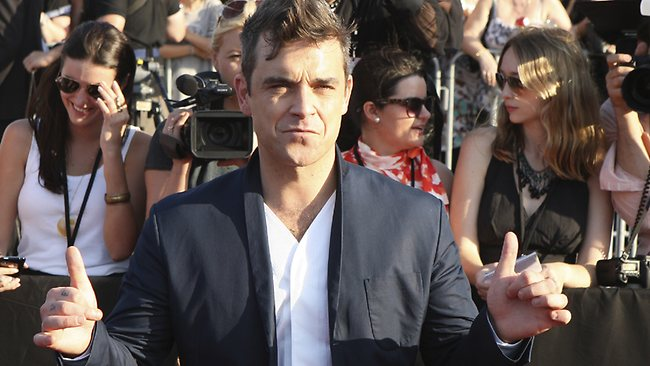 British pop star Robbie Williams arrives at the 2009 ARIA Awards in Sydney. Picture: AP/Rob Griffith