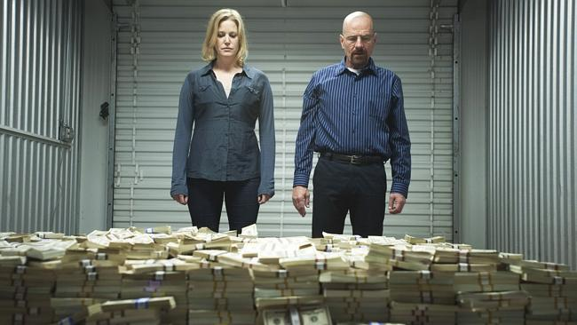 Tap into your inner greed to make more money. Pictured, Anna Gunn as Skyler and Bryan Cranston as Walter in Breaking Bad. Picture: Supplied