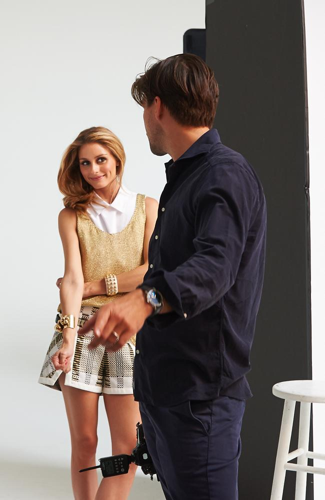 A candid moment while shooting Chadstone SS14. Olivia wears Thurley shirt and shorts and Witchery gold singlet.