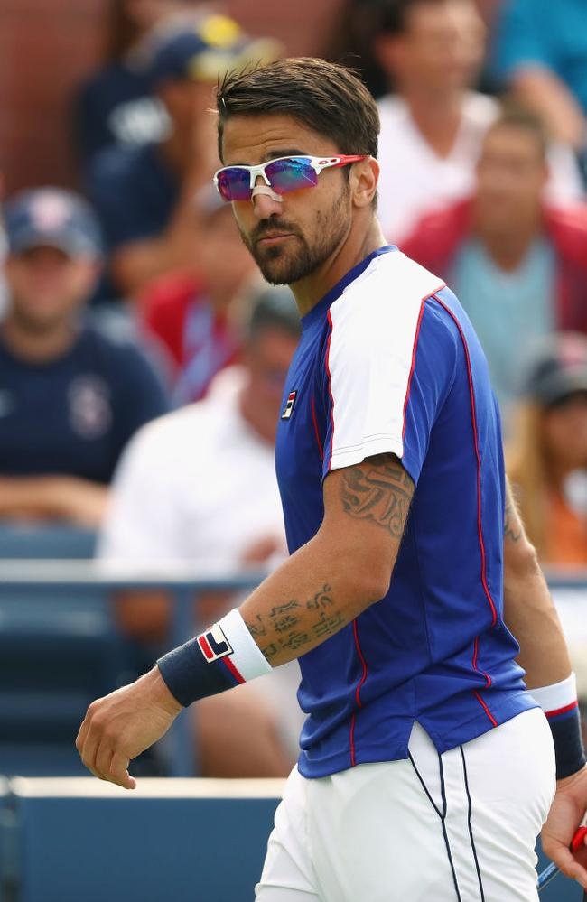 Janko Tipsarevic of Serbia pictured at the 2017 US Open. Picture: Al Bello/Getty Images