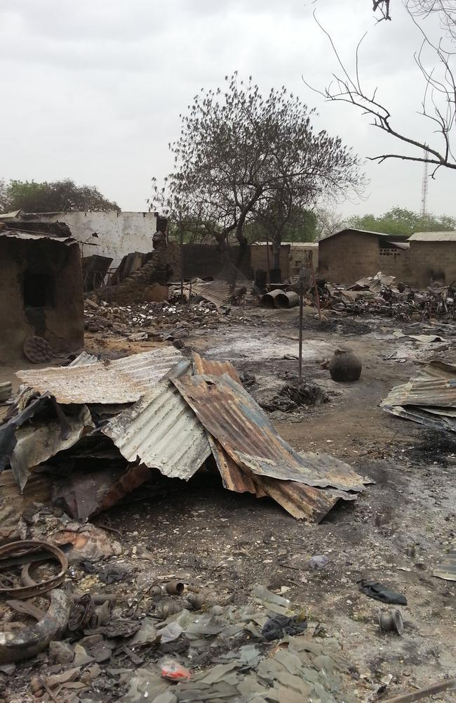 Another photo from April 2013 shows the ruins of burnt out houses in Baga village in Nigeria. AP Photo/Haruna Umar.