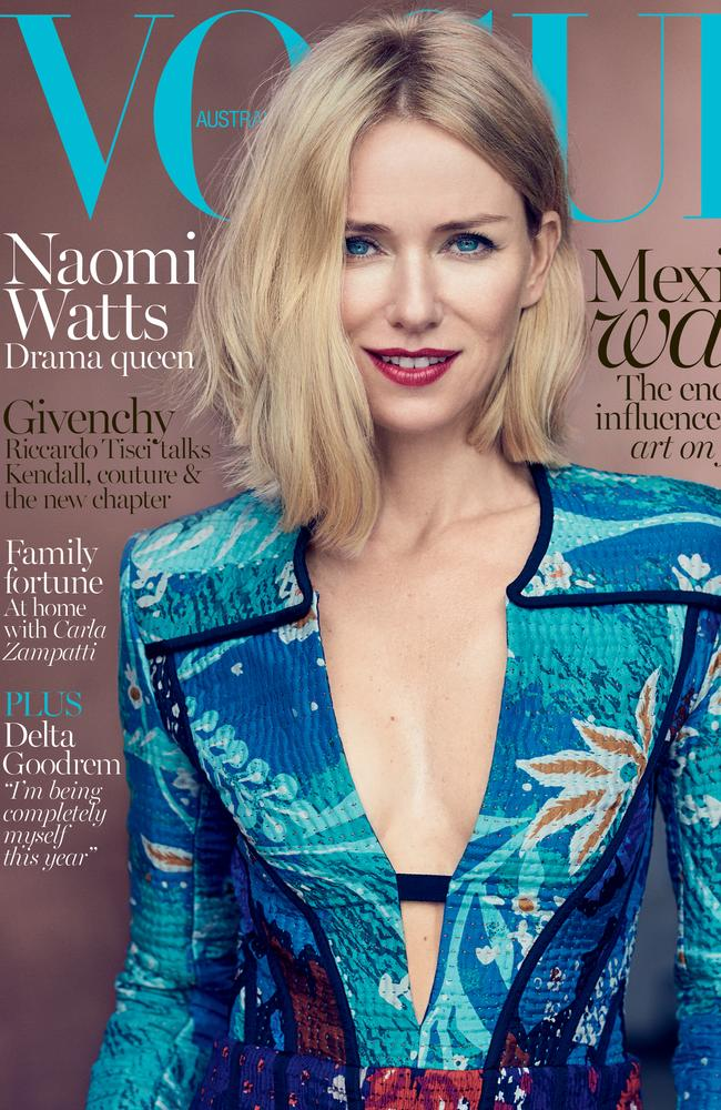 Watts stuns on the cover of the October issue of Vogue Australia.
