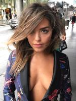 Olympia Valance wows fans baring her cleavage in a plunging printed blazer. Picture: @olympiavalance/Instagram