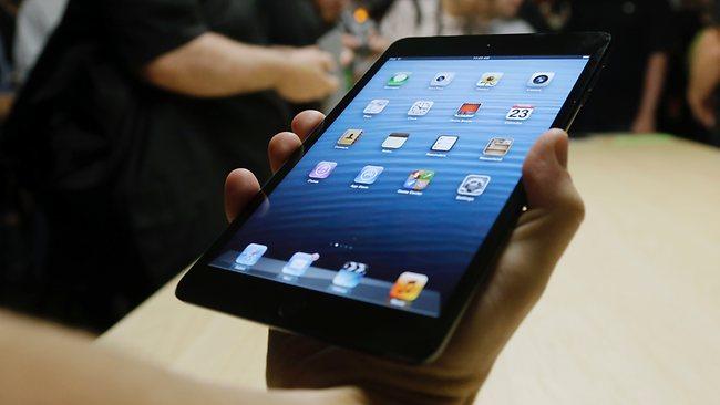 The iPad Mini is shown in San Jose, California. Picture: Marcio Jose Sanchez
