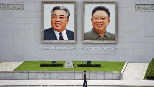 Former DPRK leaders Kim Il-sung and Kim Jong-il.