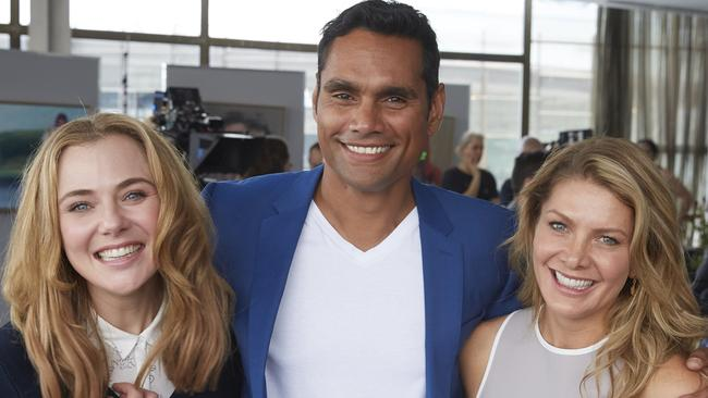 Jessica Marais, Rob Collins and Natalie Bassingthwaighte from The Wrong Girl. Pic: Supplied.