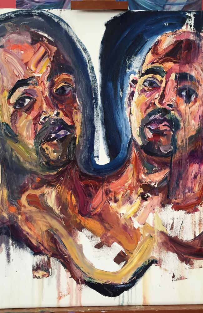 Death row ... Sukumaran, who painted this artwork, received the death penalty in 2006 but could be given some reprieve for his involvement in the prison art program.