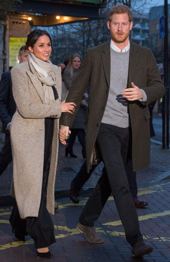 The happy couple! Meghan Markle and Prince Harry. Picture: AFP