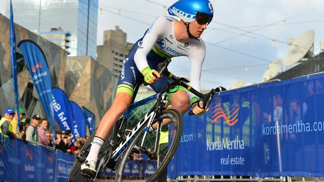 Jack Haig is pushing to make his Tour de France debut with Orica-Scott. Picture: Stephen Harman