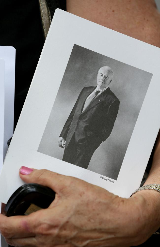 Five thousand mourners attended ... Former Prime Minister Gough Whitlam was fondly remembered at his State Memorial Service at Sydney's Town Hall. Picture: Stephen Cooper