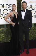 Blake Lively and Ryan Reynolds attend the 74th Annual Golden Globe Awards at The Beverly Hilton Hotel on January 8, 2017 in Beverly Hills, California. Picture: Getty
