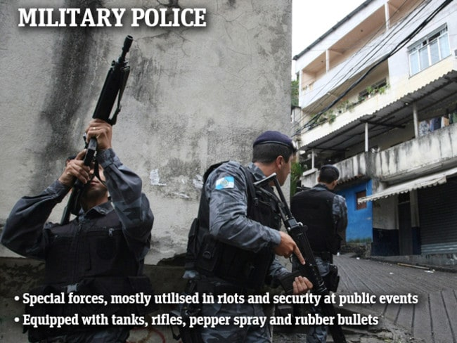 The military police were allegedly responsible for the killing of six teenage boys in Juramento favela.