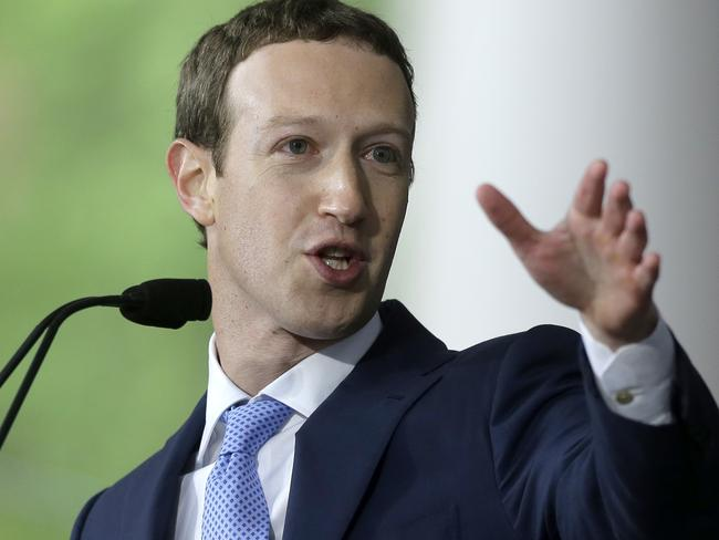 Facebook CEO Mark Zuckerberg is facing scrutiny following reports that a data mining firm used ill-gotten data from tens of millions users. Picture: AP Photo/Steven Senne