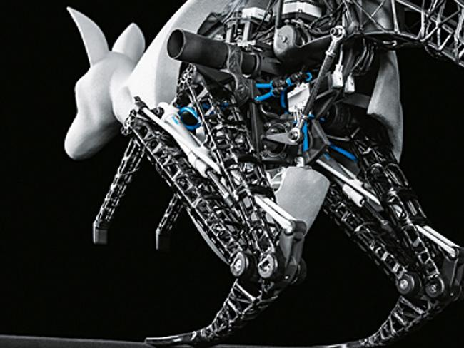 Energy-efficient ... the bionic Kangaroo can recover energy when jumping, store it and efficiently use it for the next jump. Picture: Festo