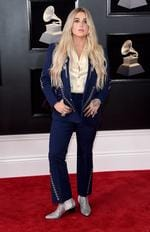 Kesha attends the 60th Annual GRAMMY Awards at Madison Square Garden on January 28, 2018 in New York City. Picture: Jamie McCarthy/Getty Images