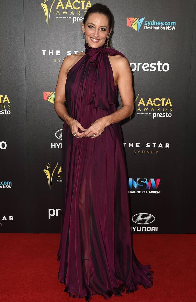 Georgie Parker arrives ahead of the 5th AACTA Awards Presented by Presto at The Star on December 9, 2015 in Sydney, Australia. Picture: AAP