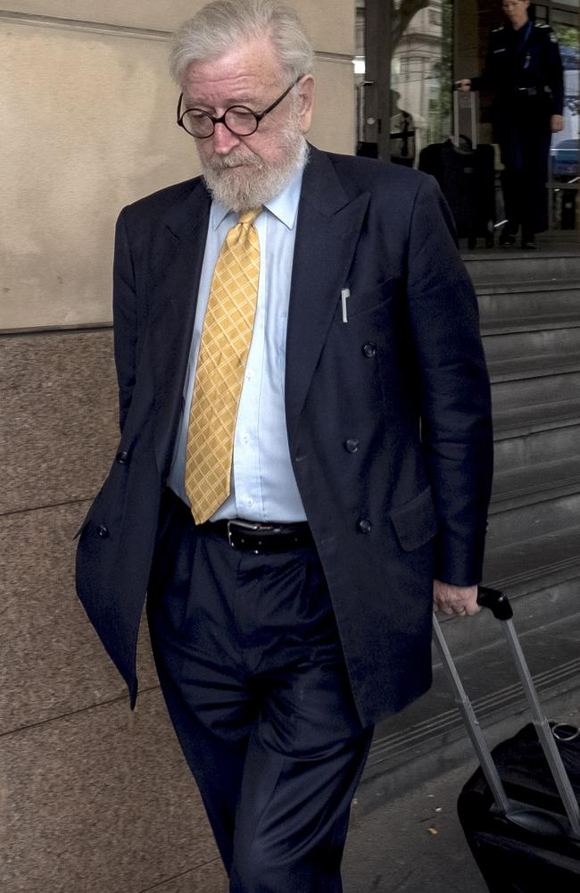 Robert Richter, QC, asked a witness if she had made a story up about her brother accusing Cardinal Pell of exposing himself. Picture: Luis Ascui.
