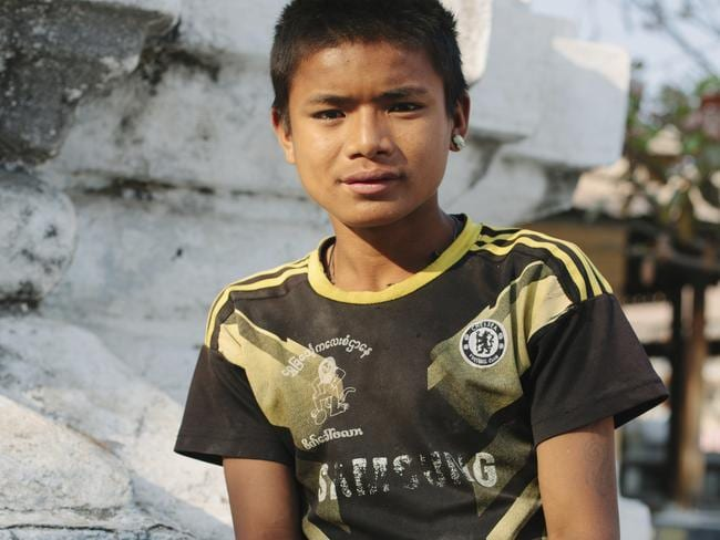 Thura was living on the streets at just five and soon became addicted to sniffing glue. Picture: ChildFund