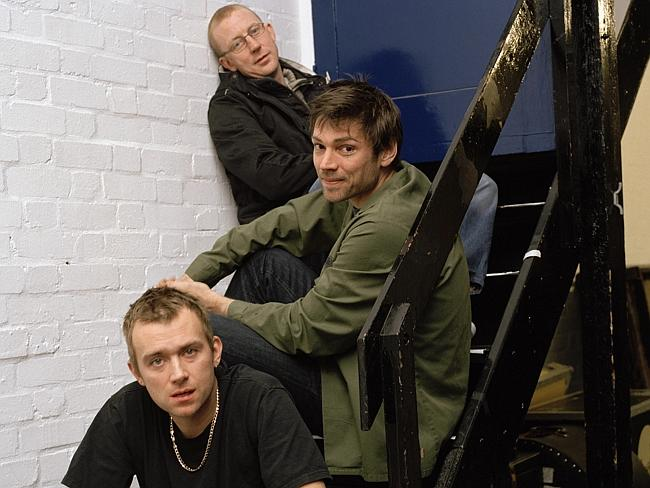 Dave Rowntree, Alex James, Damon Albarn of Blur.