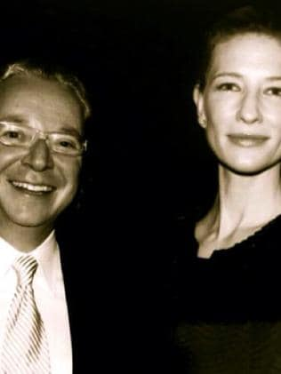 Ash Morgan Bank, CEO and CFO Michael Rothner with actor Cate Blanchett.