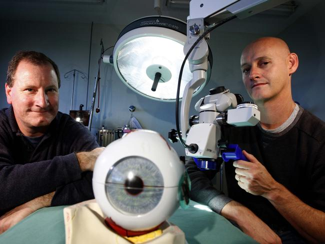 The bionic eye which is being developed in Australia. Picture: News Corp Australia