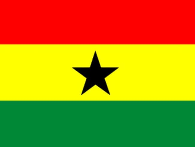 The flag of Ghana, a nation with which Australia drew 1-1 at the last World Cup.