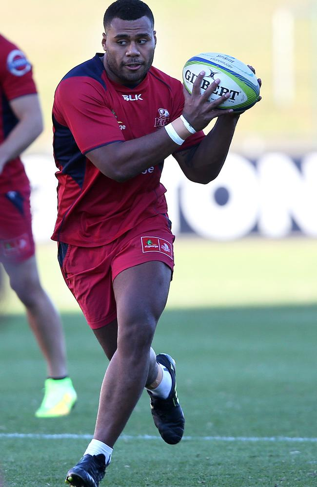 Samu Kerevi during the Queensland Reds training. Pic: Josh Woning.