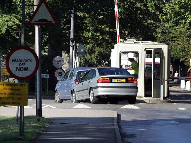 The entrance to the Pirbright Army Training Centre in Surrey. Picture: Tim Ockenden/PA.