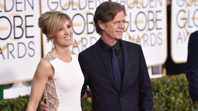 Delightful duo ... Felicity Huffman and William H Macy. Picture: AP