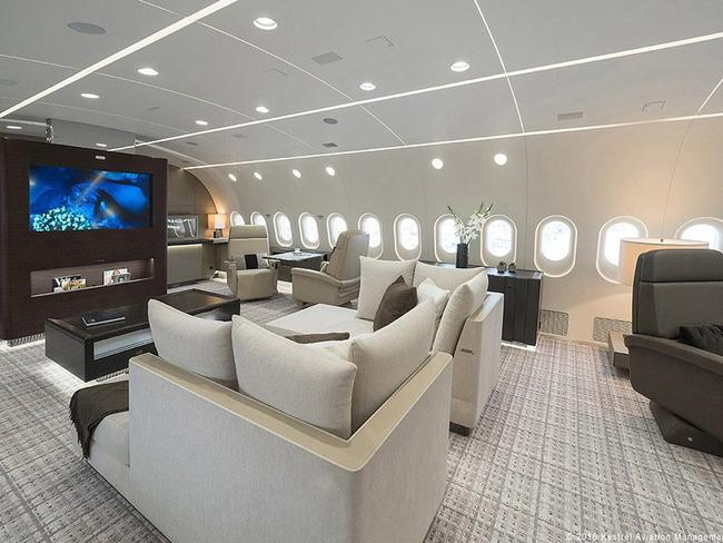 The TV is unlike anything you'd see on a commercial flight. Picture: Kestrel Aviation Management