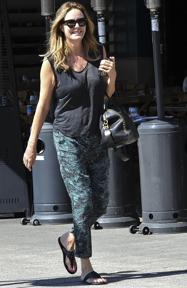 Last picture: Charlotte Dawson going shopping in Woolloomooloo on Thursday. Picture: Media-Mode