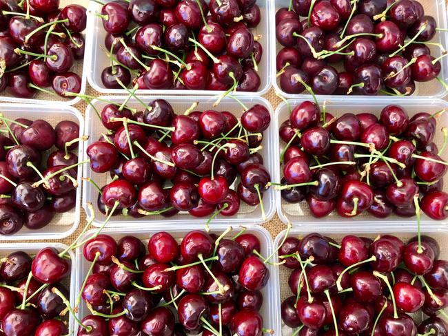 There is a great selection of cherries too. Picture: Jenifer Jagielski.