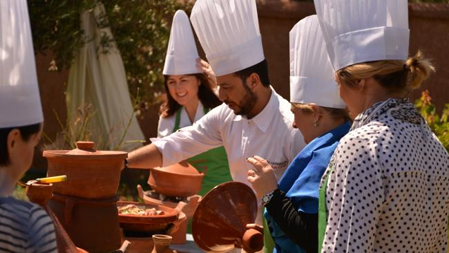 Learn to cook in Morocco with local chefs.