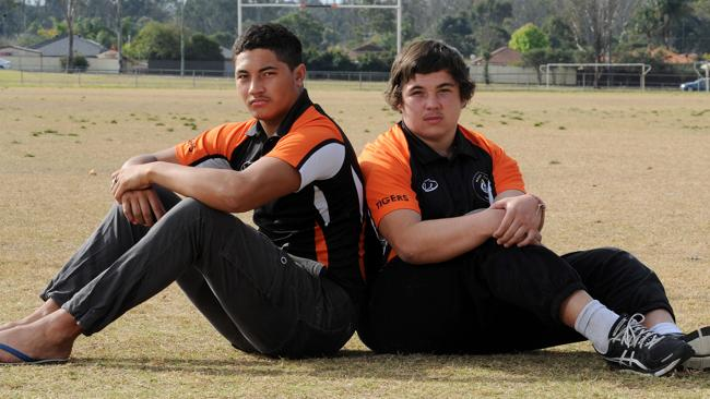 Jordan (right), 17, of Hebersham and Marli, 17, of Lethbridge, have been banned from playing rugby league after a brawl.