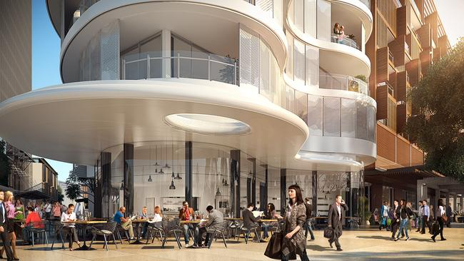 An artist's impression of The Cloud, a contemporary brasserie, at Barangaroo.