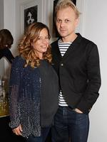 Jade Jagger cuddles up to husband Adrian Fillary at the launch of the new 'Jade Jagger' New Bond Street showroom in London, England. Picture: Getty