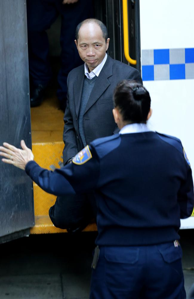 Robert Xie arrives at King St Supreme Court today for the second day of his retrial over the murder of five members of the Lim Family at their Epping home. Picture: Stephen Cooper