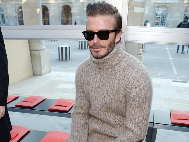 David Beckham at the Louis Vuitton Menswear Fall/Winter 2017-2018 show. Picture: Dominique Charriau/Getty Images