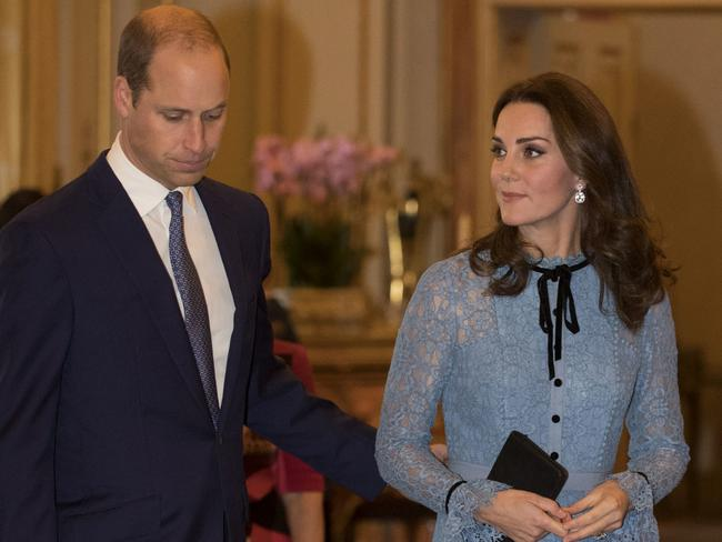 Britain's Prince William and Kate, the Duchess of Cambridge. Picture: AP
