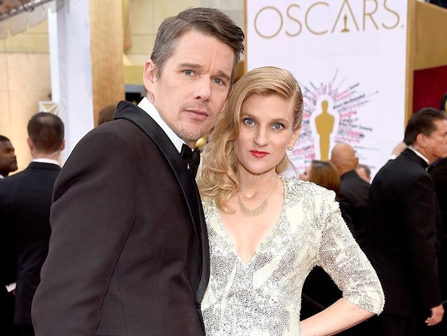 Ethan Hawke and former nanny Ryan Hawke attend the 87th Annual Academy Awards in February 2015.