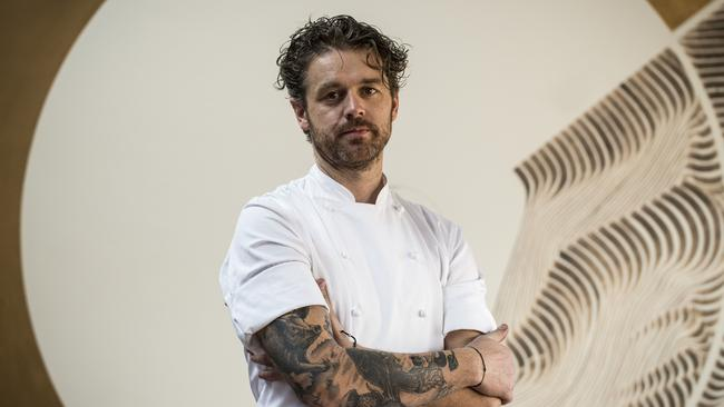 Chef Jock Zonfrillo pictured at his restaurant Orana, in Adelaide.