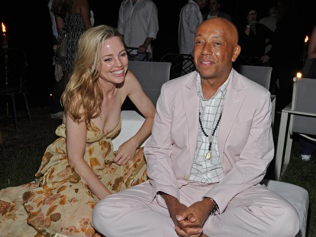 Actress Melissa George and Russell Simmons at a party in the Hamptons in 2011.