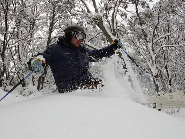 This is what it's all about. Powder snow. Bottomless fluff that makes you feel like you're flying. Pic: Falls Creek Facebook.