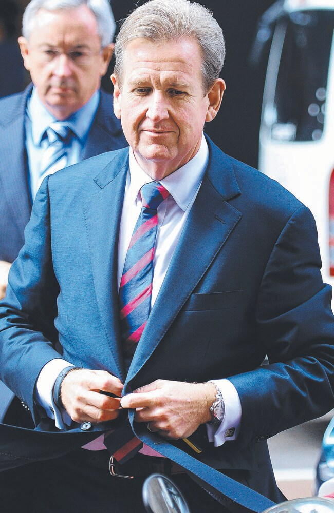 Mr O'Farrell was downcast when he arrived at the ICAC yesterday. Picture: News Corp Australia